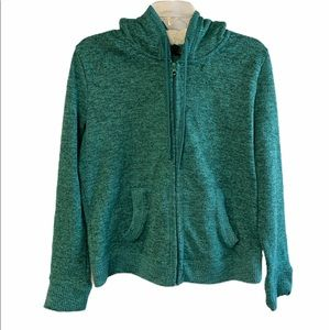 Almost famous teal green hooded sweater XL